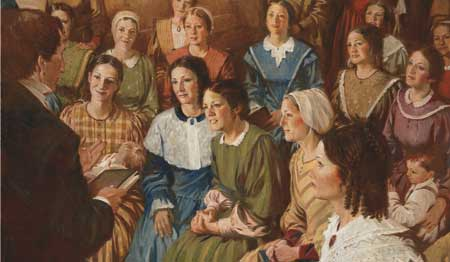 feminism in lives of the saints Mormon feminism among the early saints 6  roles these women played in the organization of the lds church, their participation in priesthood  their lives were very.