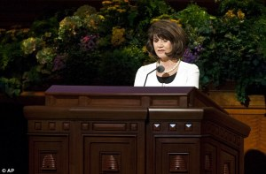 woman prays general conference