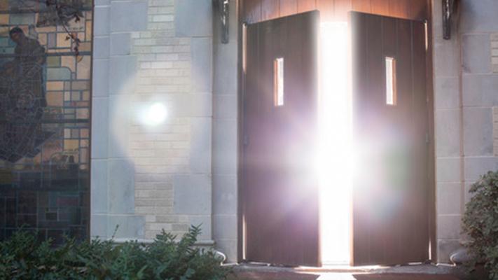 Open Church Doors modren open church doors door old arched opening out onto