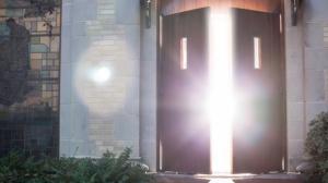 Open church door